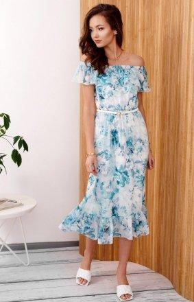 Kwiecista sukienka hiszpanka 0247/R44