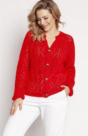 MKM SWE233 rozpinany sweter koralowy