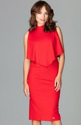 Lenitif K480 sukienka czerwona