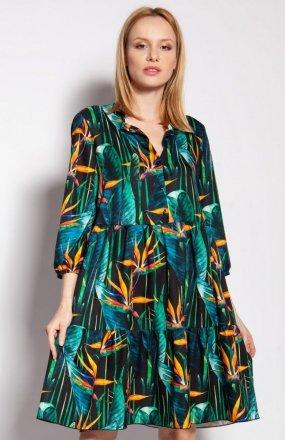 Sukienka z falbankami bambus SUK180