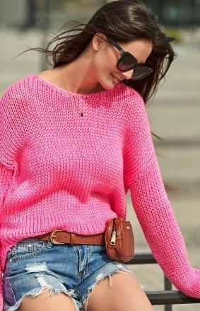 Oversizowey sweter neonowy S60