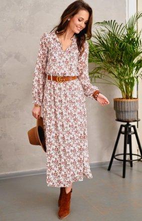 Kwiecista sukienka midi Roco 0284/R21