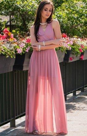 Elegancka szyfonowa sukienka 0213