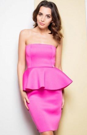 *Katrus K283 sukienka różowa