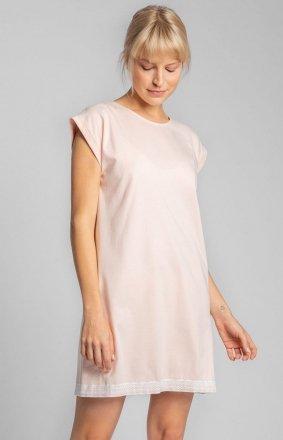 Bawełniana koszula nocna brzoskwinia LA043