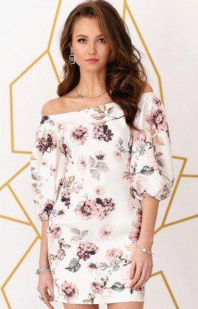 Dopasowana sukienka z hiszpańskim dekoltem 0278/B10
