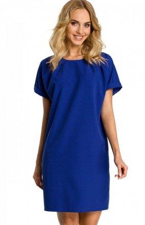 Chabrowa sukienka z ozdobnym dekoltem M337