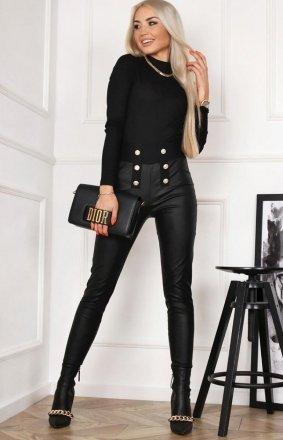 *Czarne spodnie z miękkiej eko skórki