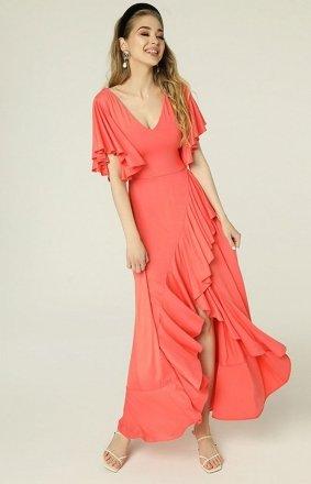 Sukienka z asymetrycznym dołem i falbankami Juanita