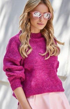 *Ciepły sweter z półgolfem S63