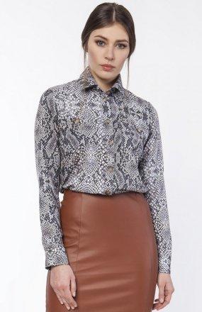 Koszula damska z dłuższym tyłem wąż K112