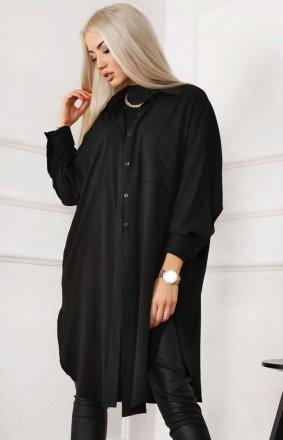 Długa czarna koszula damska