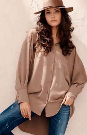 Oversizowa koszula damska cappucino 0125