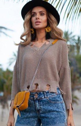 FIMFI I294 sweter mocca