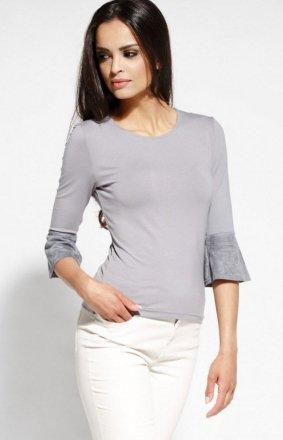 Elegancka bluzka z baskinką szara Torro