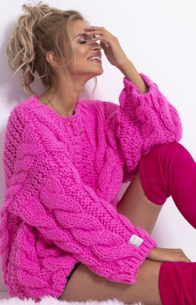 Ciepły sweter z wełny F780
