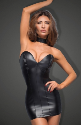 Noir F172 sukienka skórzana