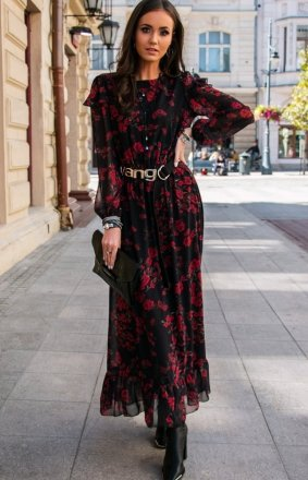 Wzorzysta sukienka maxi 253/D82