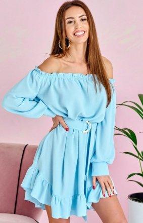 Sukienka w stylu boho błękitna 0285