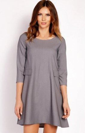 LOU LOU L005 sukienka szara