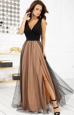 Elegancka długa sukienka Bicotone 2218-16
