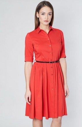 Click Fashion Lina sukienka koralowa