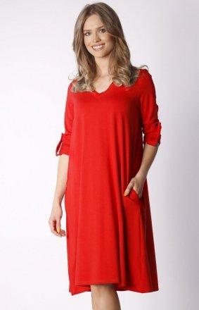 Oversizowa sukienka z kieszeniemi NA031LP