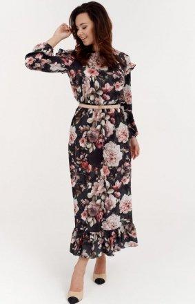 Kwiecista sukienka midi 0282/S40