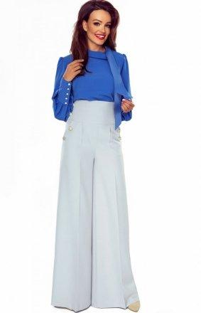 Eleganckie spodnie z szerokimi nogawkami szare