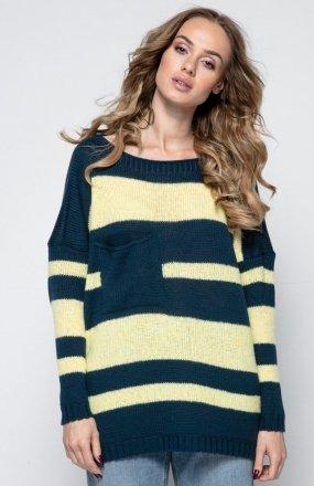 FIMFI I240 sweter granatowy