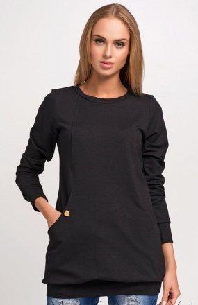 *Makadamia M255 bluza czarna