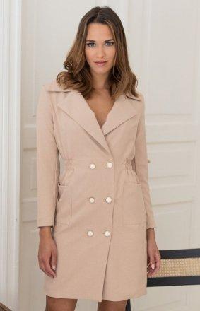 Sukienka żakietowa beżowa LP283