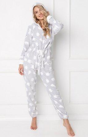 Aruelle Polar Bear Onesie Grey kombinezon