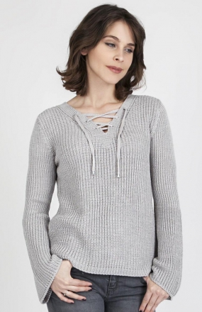 MKMSwetry Sweter Kylie SWE 117 Szary