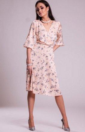 *Modna sukienka w kwiaty 0244 S11