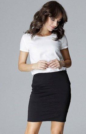 Dopasowana mini spódnica czarna L014