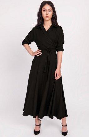 Sukienka długa czarna SUK172