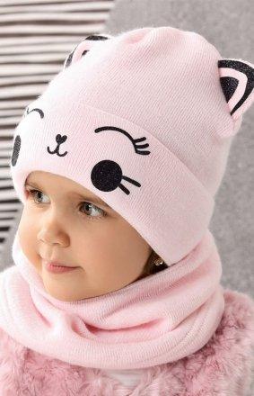 AJS 42-458 czapka z uszami dziewczęca