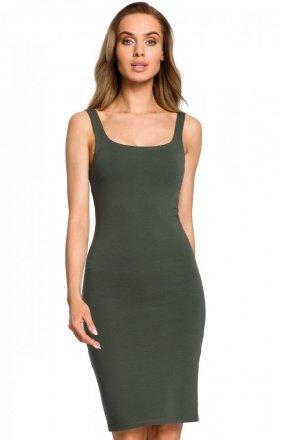 Sukienka ołówkowa zielona M414