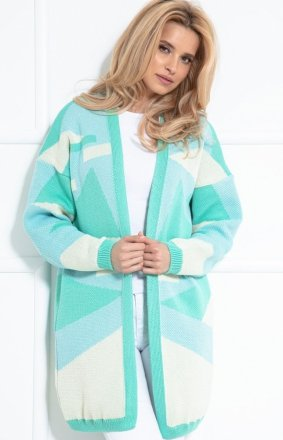 Pastelowy bawełniany sweterek summergreen F1038