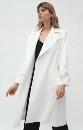 Elegancki płaszcz damski ecru PL13R