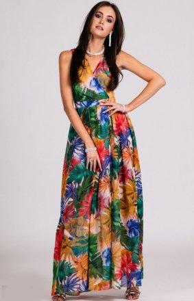Kwiatowa sukienka maxi D23