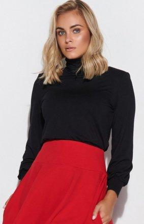 Czarna bluzka damska Makadamia M593