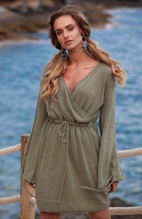 FIMFI I295 sukienka oliwkowa
