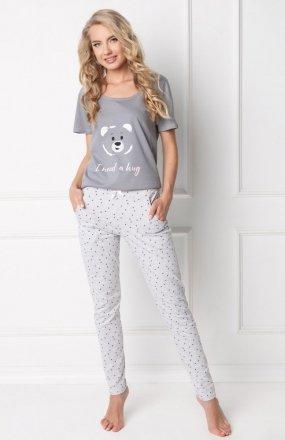 Aruelle Huggy Bear Long Grey piżama