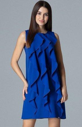 Figl M622 sukienka szafirowa