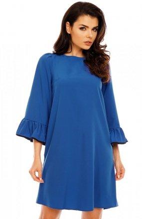 Nommo NA199 sukienka kobaltowa