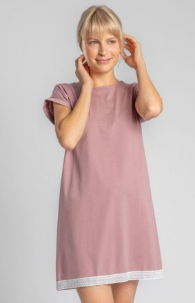 Bawełniana koszula nocna wrzosowa LA043
