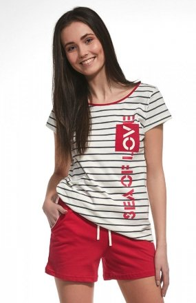 Piżama Cornette F&Y Girl 276/29 Sea Of Love k/r 158-176