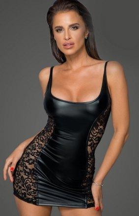Mini czarna sukienka F229
